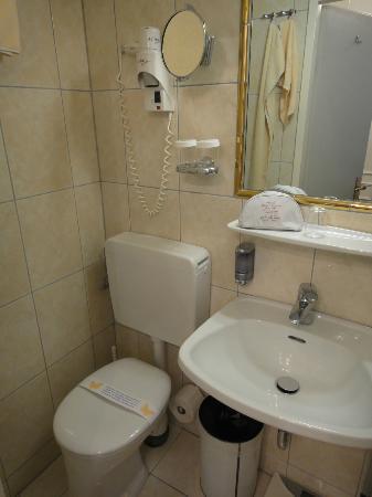 Hotel Zur Wiener Staatsoper: トイレ洗面