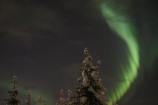 Northern lights above Det rode huset