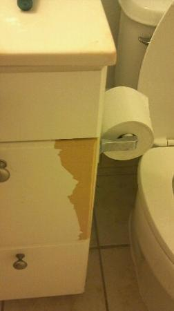 Extended Stay America - Melbourne - Airport: Here you go. Sit on your toilet paper. Damage done to vanity by someone else!!