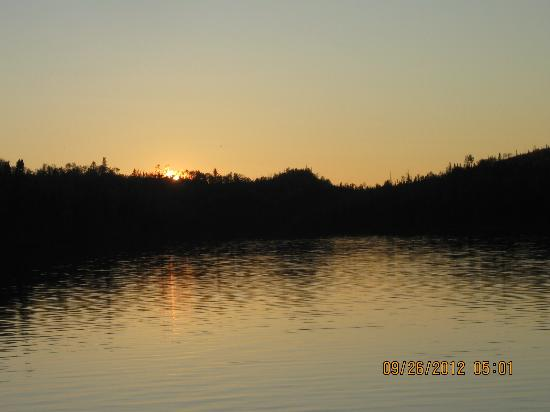 Loon Lake Lodge: Sunset on Loon Lake