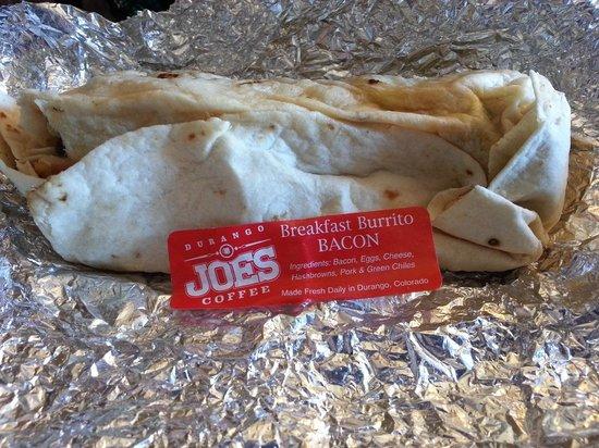 Durango Joe's Coffee North Drive Thru: Bacon breakfast burrito