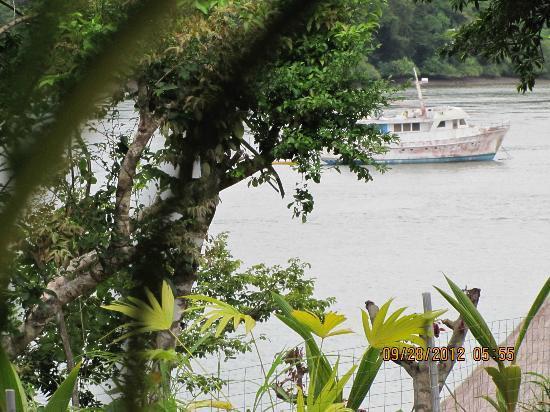 Hotel Bocas del Mar: Boat in Inlet