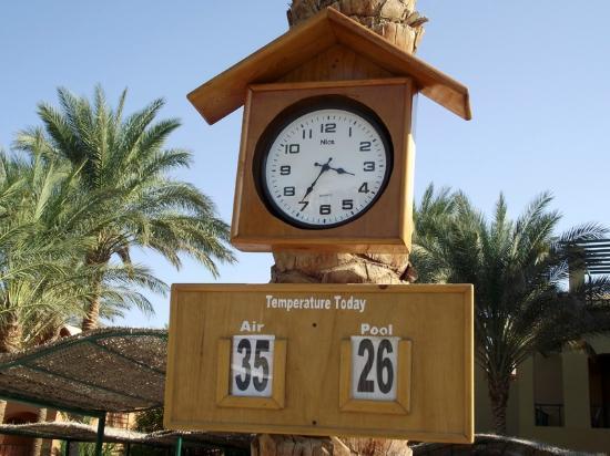 Jaz Makadina: Air temperature: 35°C