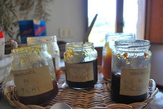 Agriturismo Cioccoleta: Homemade Jams