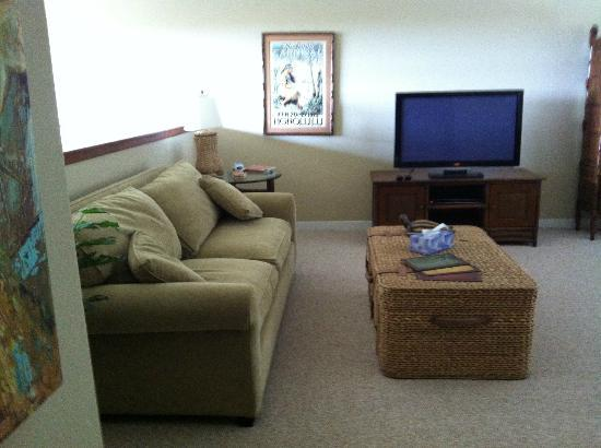 Golf Villas Mauna Lani : I love watching TV with the family sideways (since TV doesn't swivel)