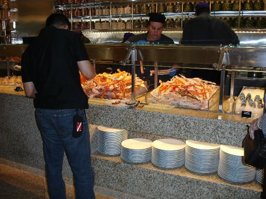 assorted seafood at brunch picture of bacchanal buffet las vegas rh tripadvisor com