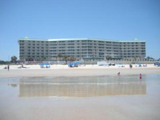Royal Floridian Resort: Looking back from the ocean (annex not built yet in this picture)