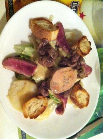 Le Bilboquet Plage : duck, foie gras, gizzards - yum!