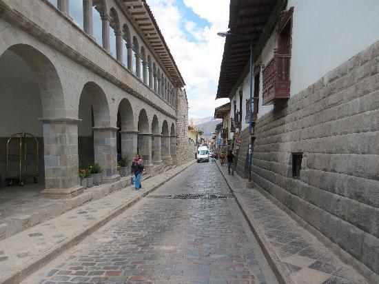 Novotel Cusco: San Agustin - street outside Novotel