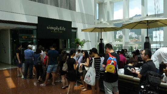 Simplylife Bakery Cafe: Quite a queue at Simplylife in Festival Walk
