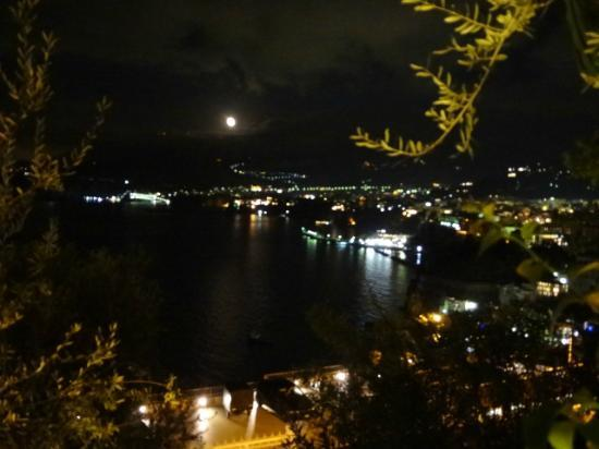 Hotel Residence Miramare: having wine at balcony watching night view