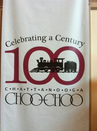 Chattanooga Choo Choo: The history of the hotel is very interesting, the newspaper/flier had old photo