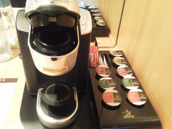 Hotel Okura Tokyo: ポッドタイプのコーヒーやお茶