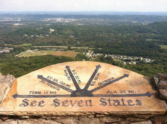 Lookout Mountain, GA: view of 7 states