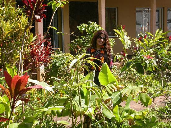 Hotel Orongo: Precioso jardin