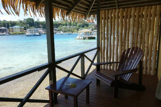 Iririki Island Resort: View from Waterfont Fare Balcony