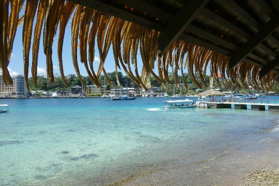 Iririki Island Resort: View of Ferry Wharf from Room