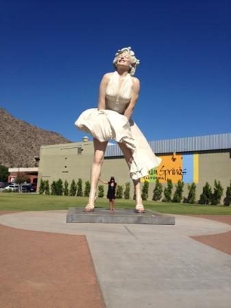 The Saguaro Palm Springs: Take a picture with Marilyn downtown too!