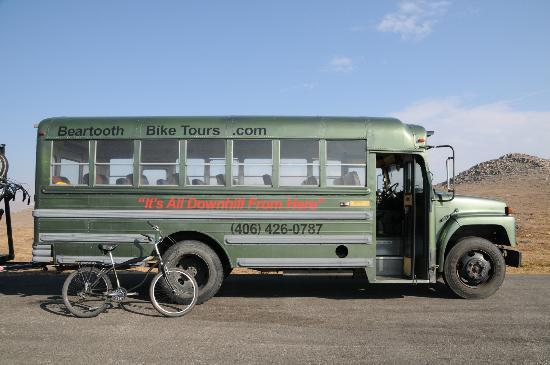 Beartooth Bicycle Tours- Day Tours: The Beartooth Bike Tour Bus