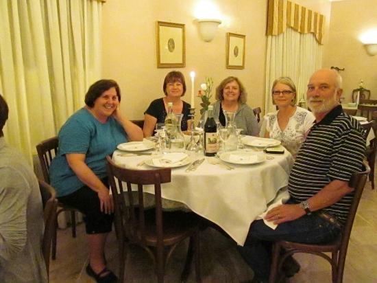 Hotel Lancelot: My friends and I enjoying a great Lancelot dinner 