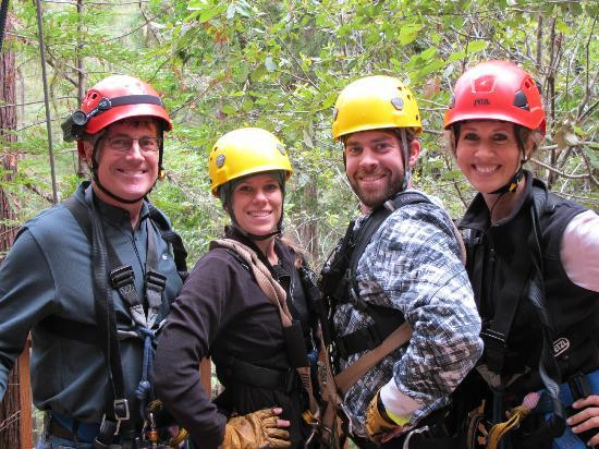 Sonoma Canopy Tours: Mission accomplished!! Sarah and Mark were great guides!
