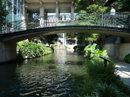 San Antonio Marriott Rivercenter: Riverwalk Outside Hotel Doors