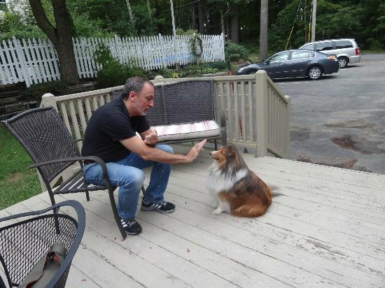 Red Elephant Inn Bed & Breakfast: Brody and his master