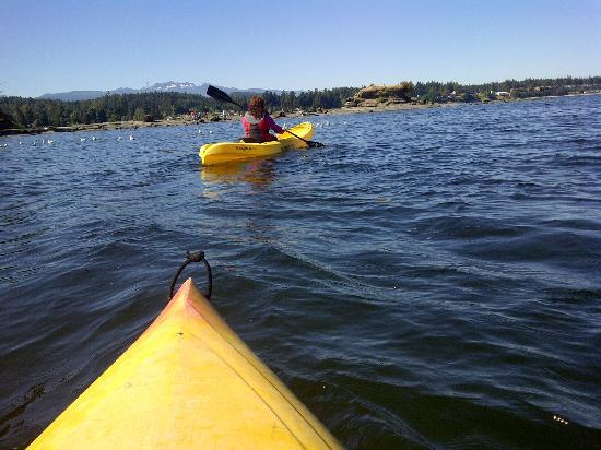 Pacific Shores Resort and Spa: Kayaking around the bay