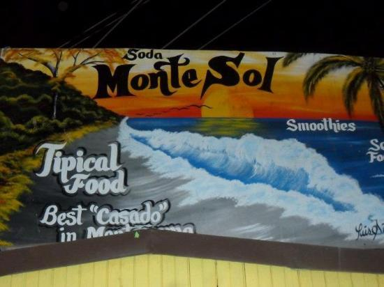Soda Montesol: sign in front