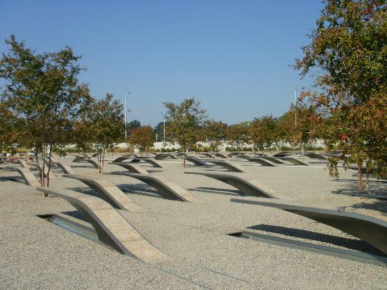 Pentagon Memorial: Every bench is  for each dear lost...