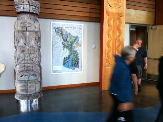 Squamish Lil'wat Cultural Centre: Map of different nation groups in the local area