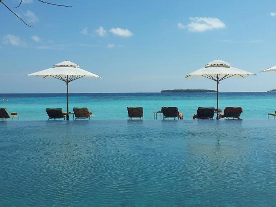 Anantara Kihavah Maldives Villas: the view from the main pool-amazing !!!