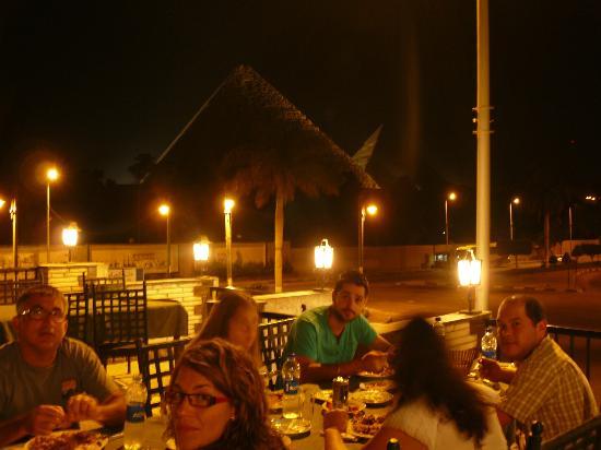 Christo: vistas desde la terraza con el grupo