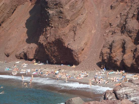 Anthonas Apartments: La spiaggia Rossa