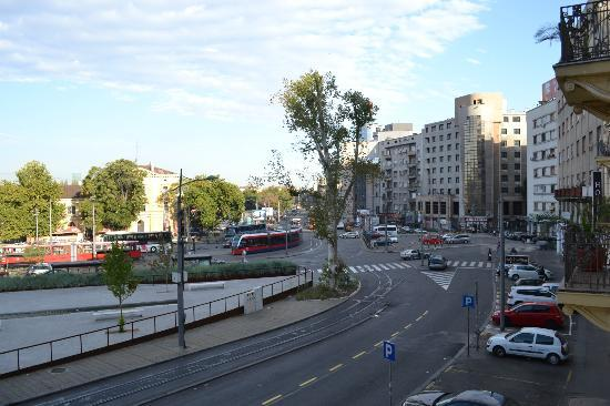 Belgrade City Hotel: Views from the room in the morning
