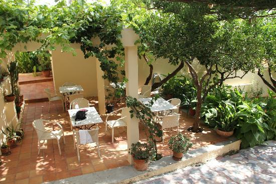 Hotel Orestis: Idyllic place for breakfast !