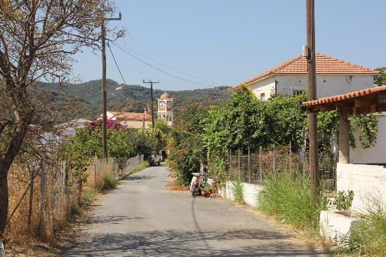 Hotel Orestis: Village road - simply lovely
