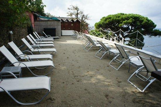 Storica Residenza StellaMaris : terrazza con la sabbia