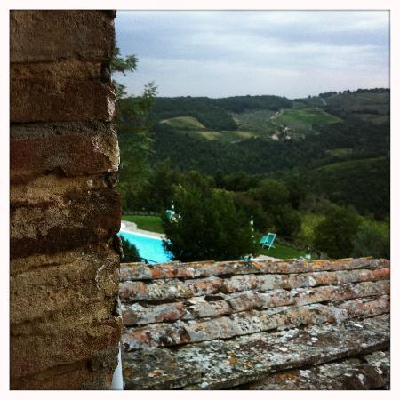 Rocca di Cispiano: View from the sitting room