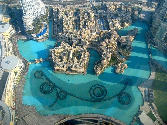 Dubai, United Arab Emirates: Vista dal terrazzo Burj Khalifa