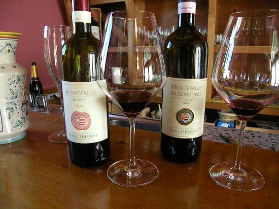 Montefalco, Italien: A few of the wines we tasted