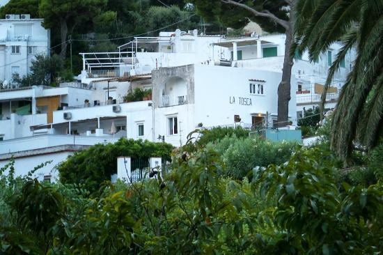 Hotel La Tosca : View of La Tosca from across the island.