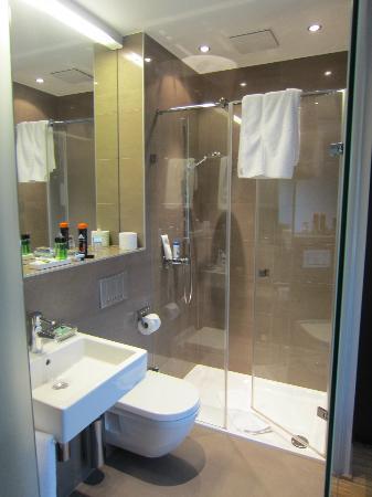 Hotel - Ristorante Mia Zia : Glass Bathroom