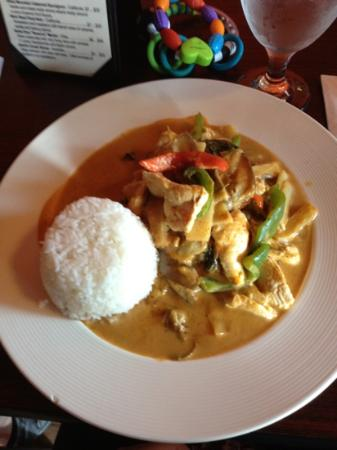 Thai Spice: red curry with chicken, divine!