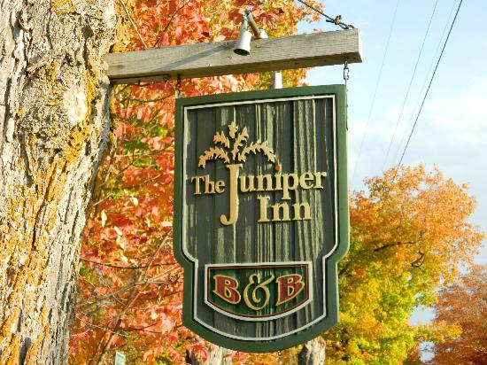 The Juniper Inn: street sign