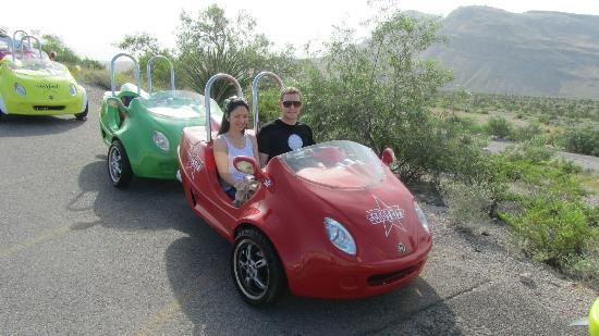 Scoot City Tours: Us in our scooter cars