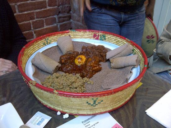 Queen of Sheba Ethiopian Cuisine: Meat Combination platter ($18.99)