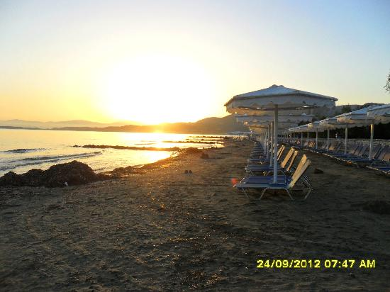 Mitsis Roda Beach Resort and Spa: beach sunrise