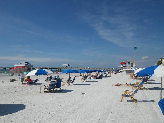 Clearwater Beach: to the right