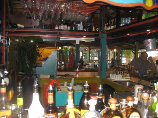 Orient Bay Beach: the bar